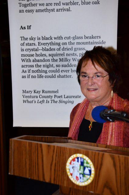 Former Ventura County Poet Laureate Mary Kay Rummel