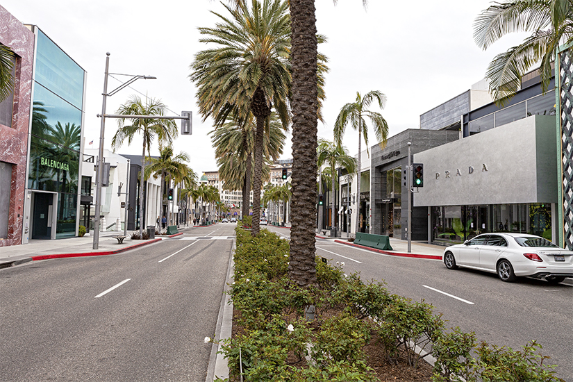 Rodeo Drive-Beverly Hills-Saturday Afternoon-Sans People-Coronavirus Edition